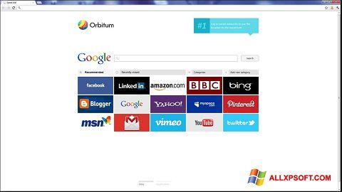 Capture d'écran Orbitum pour Windows XP