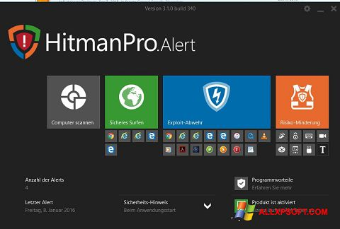 Capture d'écran HitmanPro pour Windows XP