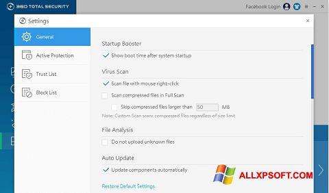 Capture d'écran 360 Total Security pour Windows XP