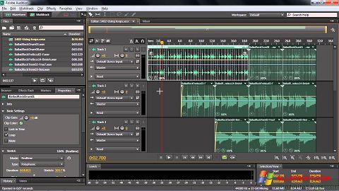 Capture d'écran Adobe Audition CC pour Windows XP