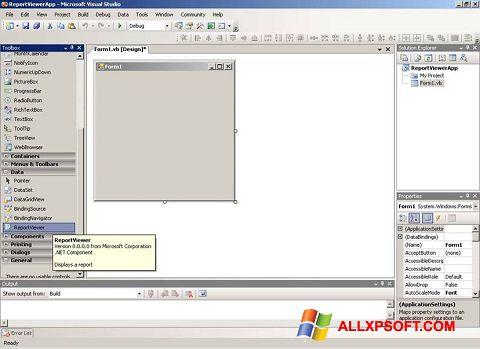 Capture d'écran Microsoft Visual Studio pour Windows XP