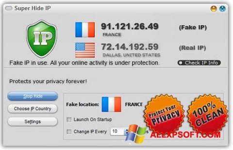 Capture d'écran Super Hide IP pour Windows XP