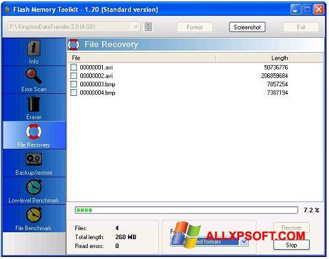 Capture d'écran Flash Memory Toolkit pour Windows XP