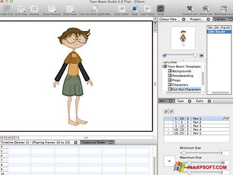 Capture d'écran Toon Boom Studio pour Windows XP