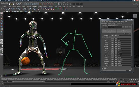 Capture d'écran Autodesk Maya pour Windows XP