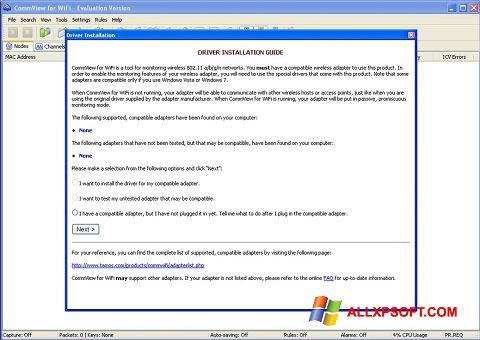 Capture d'écran CommView for WiFi pour Windows XP