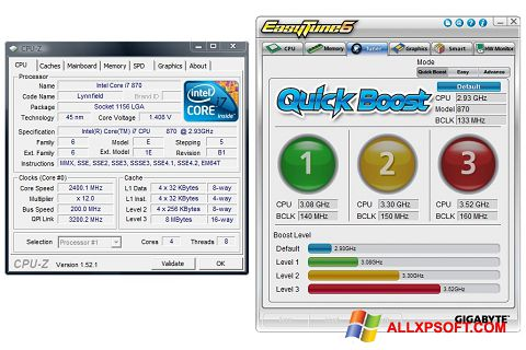 Capture d'écran EasyTune pour Windows XP