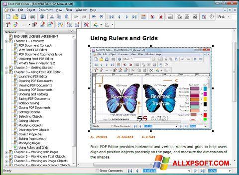 Capture d'écran Foxit PDF Editor pour Windows XP