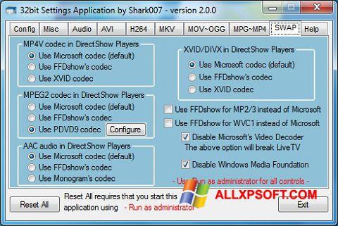 Capture d'écran ADVANCED Codecs pour Windows XP