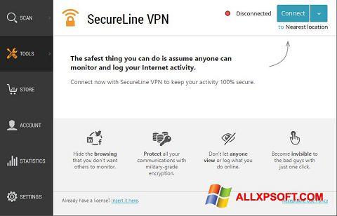 Capture d'écran Avast SecureLine VPN pour Windows XP