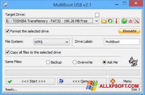 Capture d'écran Multi Boot USB pour Windows XP