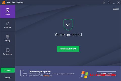 Capture d'écran Avast Free Antivirus pour Windows XP