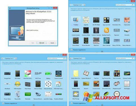 Capture d'écran 8GadgetPack pour Windows XP