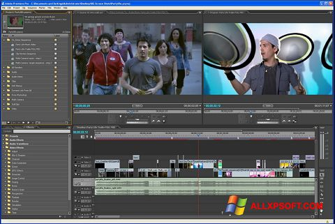 Capture d'écran Adobe Premiere Pro pour Windows XP