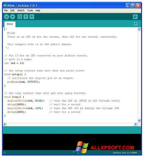 Capture d'écran Arduino pour Windows XP