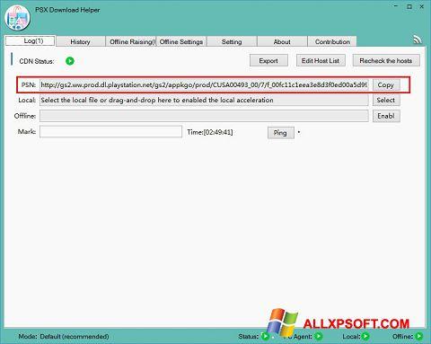 Capture d'écran DownloadHelper pour Windows XP