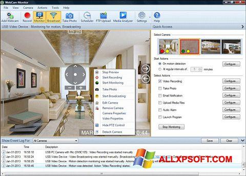 Capture d'écran WebCam Monitor pour Windows XP
