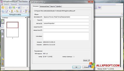 Capture d'écran Foxit Phantom pour Windows XP