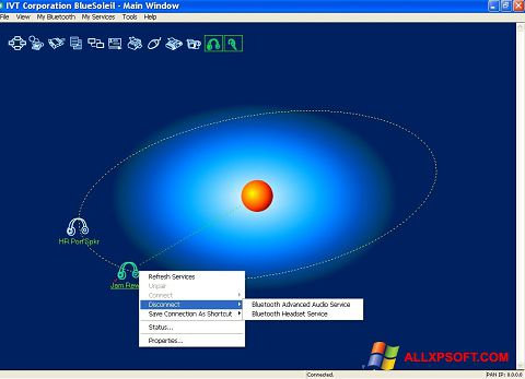 Capture d'écran BlueSoleil pour Windows XP