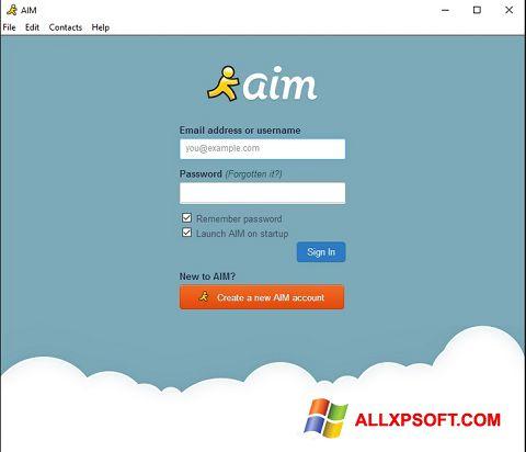 Capture d'écran AOL Instant Messenger pour Windows XP