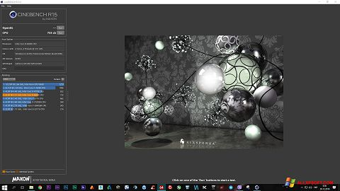 Capture d'écran CINEBENCH pour Windows XP