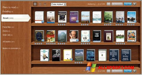 Capture d'écran Bookshelf pour Windows XP