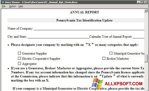 Capture d'écran DocX Viewer pour Windows XP