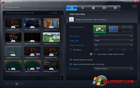 Capture d'écran Action! pour Windows XP