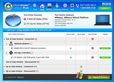 Capture d'écran DriverAgent pour Windows XP