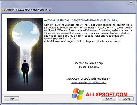 Capture d'écran Active Password Changer pour Windows XP