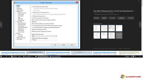 Capture d'écran The Bat! pour Windows XP