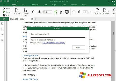 Capture d'écran PDF Editor pour Windows XP