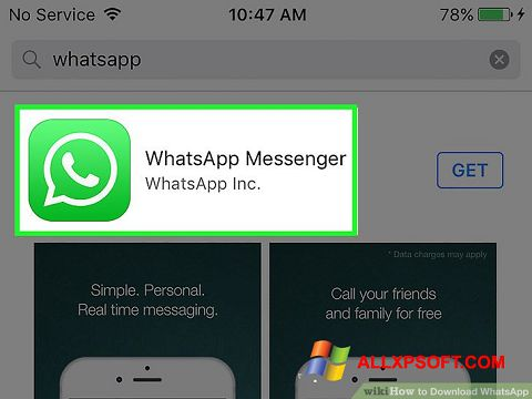 Capture d'écran WhatsApp pour Windows XP