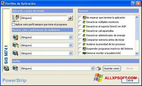 Capture d'écran PowerStrip pour Windows XP