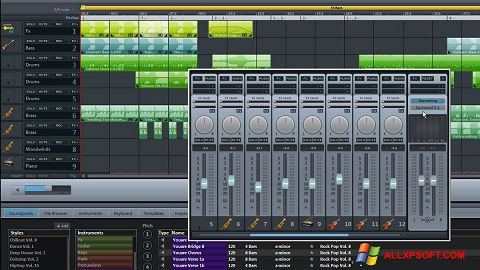Capture d'écran MAGIX Music Maker pour Windows XP