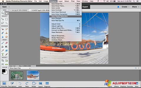 Capture d'écran Photoshop Elements pour Windows XP