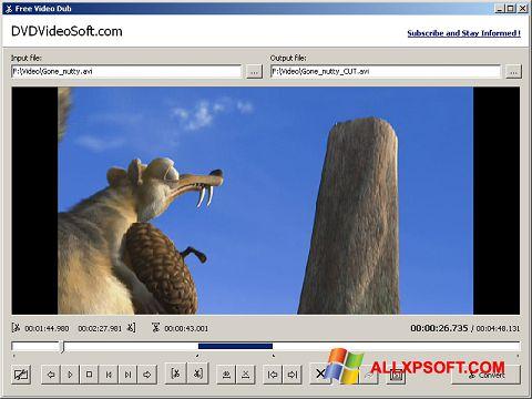 Capture d'écran Free Video Dub pour Windows XP