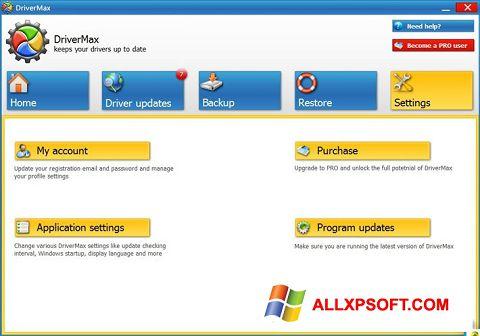 Capture d'écran DriverMax pour Windows XP