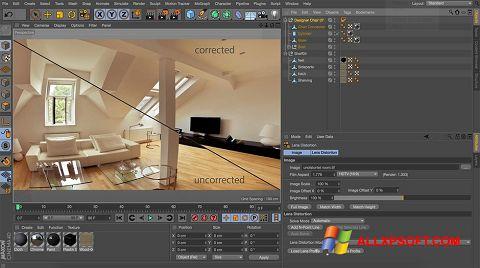 Capture d'écran CINEMA 4D pour Windows XP