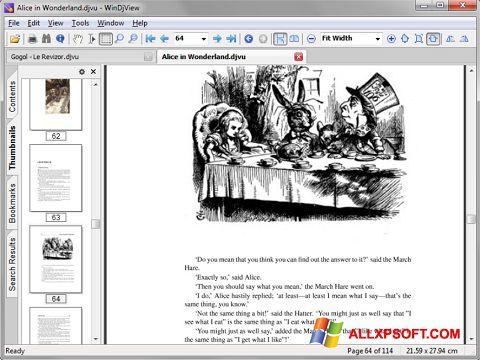 Capture d'écran DjView pour Windows XP