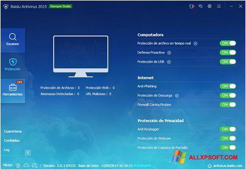Capture d'écran Baidu Antivirus pour Windows XP