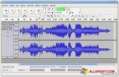 Capture d'écran Audacity pour Windows XP