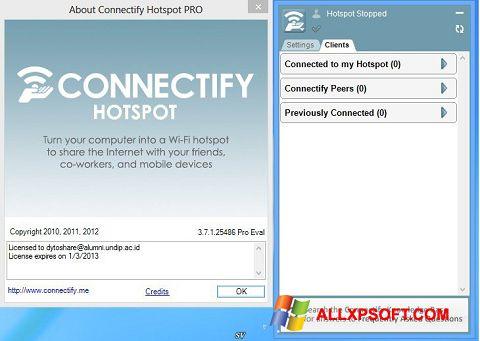 Capture d'écran Connectify Pro pour Windows XP