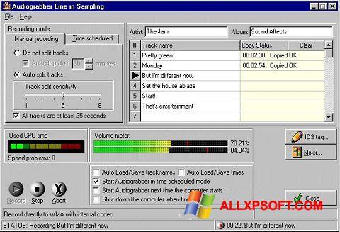 Capture d'écran Audiograbber pour Windows XP