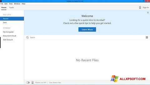 Capture d'écran Adobe Acrobat Pro pour Windows XP