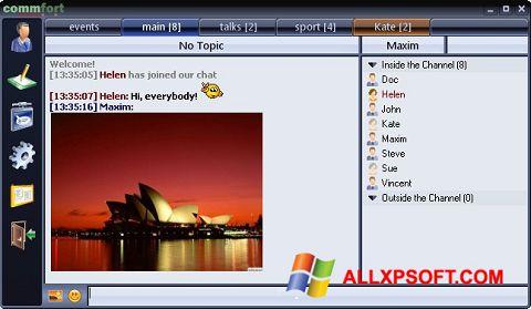 Capture d'écran CommFort pour Windows XP