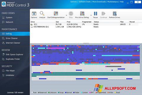 Capture d'écran Ashampoo HDD Control pour Windows XP