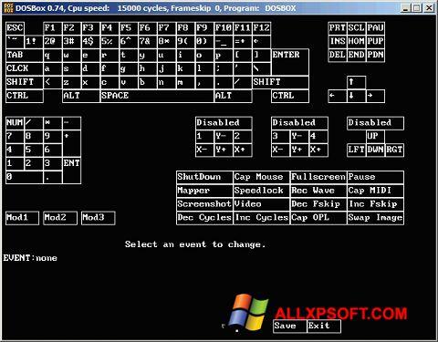 Capture d'écran DOSBox pour Windows XP