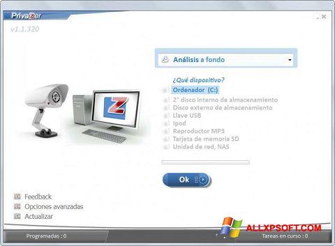 Capture d'écran PrivaZer pour Windows XP