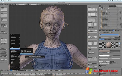 Capture d'écran Blender pour Windows XP